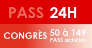 PASS 24H Congrès - 50 à 149 PASS achetés