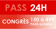 PASS 24H Congrès - 150 à 499 PASS achetés
