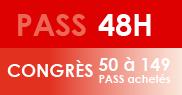 PASS 48H Congrès - 50 à 149 PASS achetés