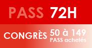 PASS 72H Congrès - 50 à 149 PASS achetés