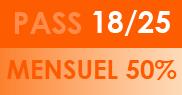 PASS 18/25 Mensuel 50%
